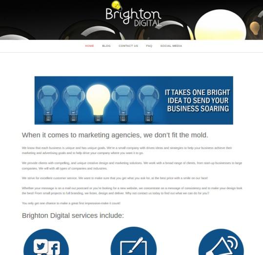 Brighton Digital website