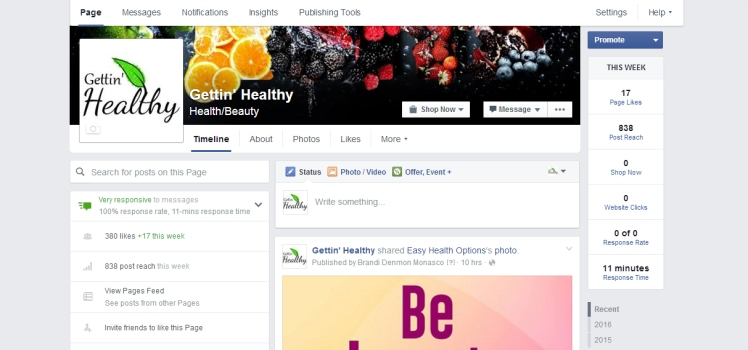 Getting Healthy Facebook