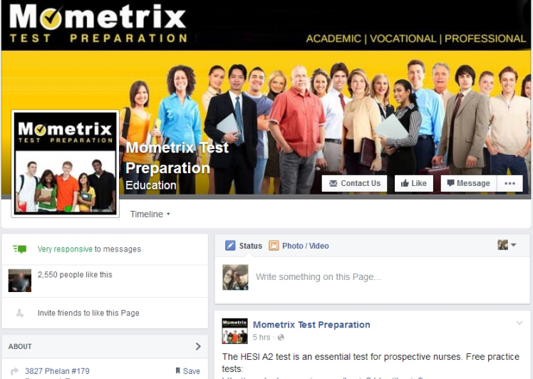 Mometrix Test Preparation Facebook-Portfolio of Brandi Monasco