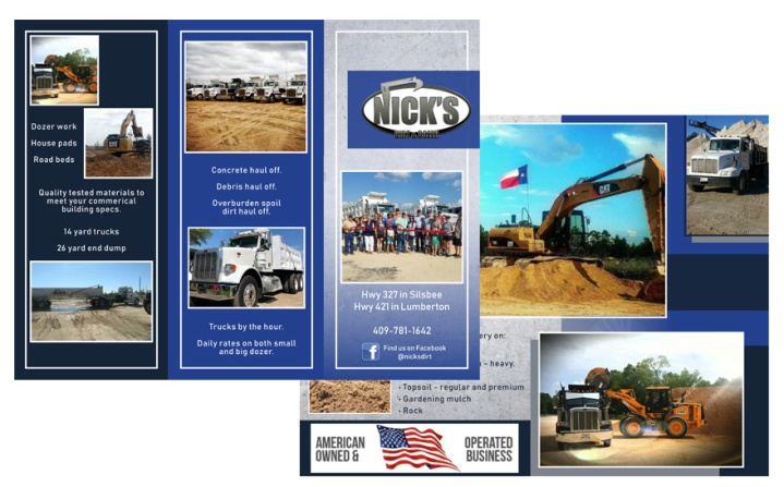 Nick's Dirt and Dozer Trifold 2